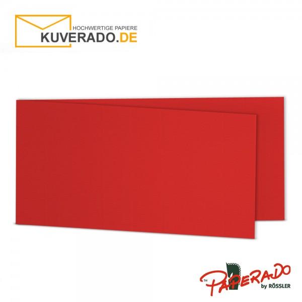 Paperado Karten in tomate rot DIN lang Querformat