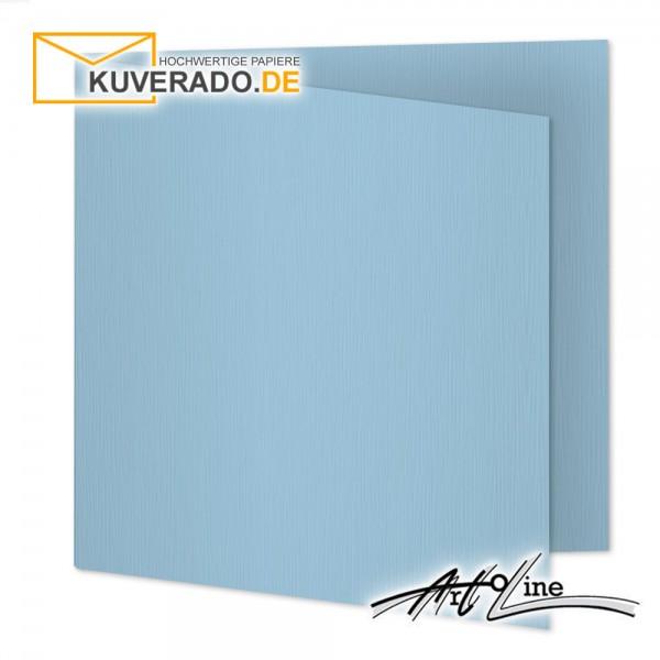 Artoz Artoline Karten/Doppelkarten in sky-blau quadratisch
