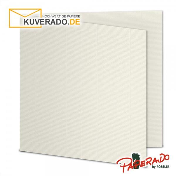Paperado Karten in ivory beige quadratisch