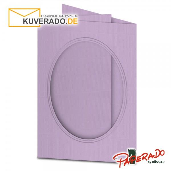Paperado Passepartoutkarten mit ovalem Ausschnitt in orchidee DIN B6