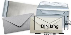 110x220 mm (DIN lang)   silber
