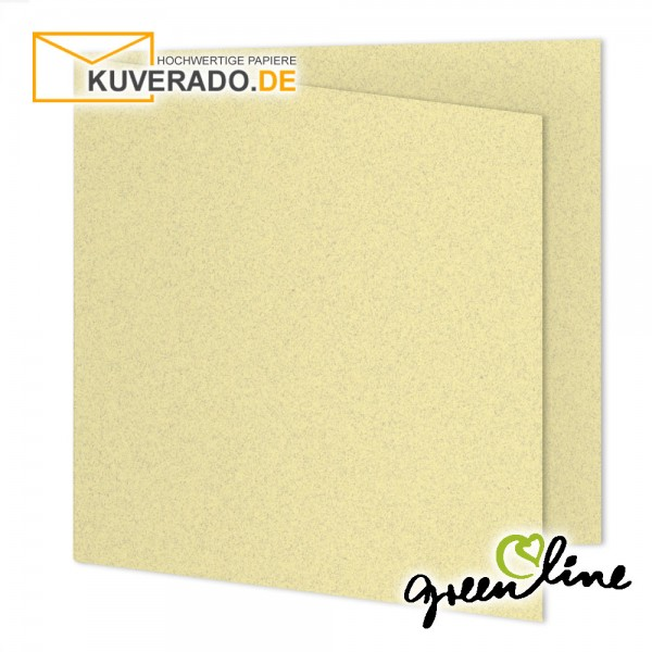 ARTOZ Greenline pastell | Recycling Faltkarten in misty-yellow quadratisch