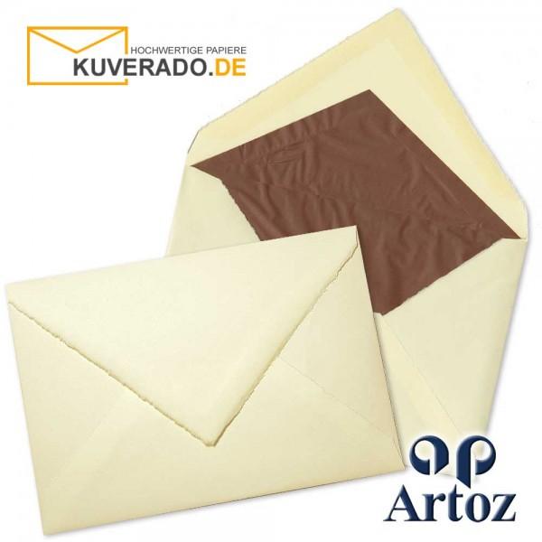 ARTOZ Rondo - Briefumschläge aus Büttenpapier im Format DIN C5 chamois
