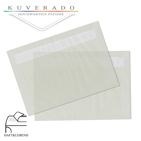 transparente Briefumschläge 120 x 180 in weiß