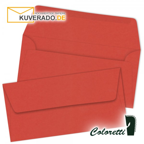 Klatschmohn-rote DIN lang Briefumschläge von Coloretti