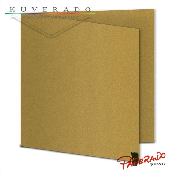 Paperado Karten in gold quadratisch