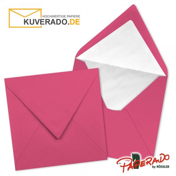 Paperado quadratische Briefumschläge in fuchsia rosa 164x164 mm
