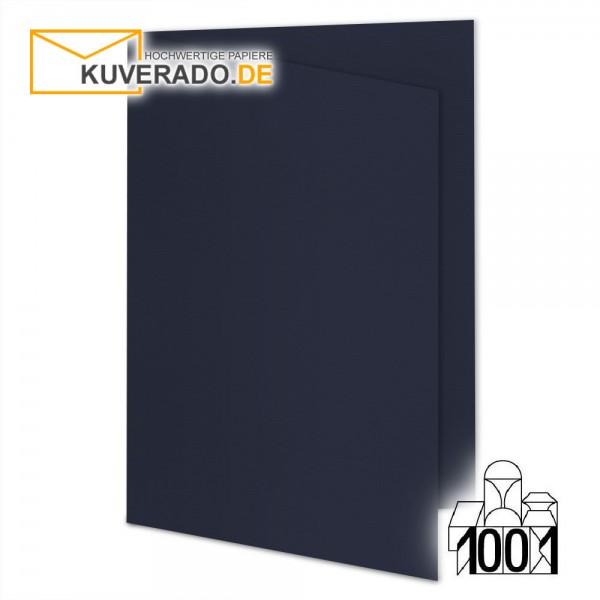 Artoz 1001 Faltkarten navy-blau DIN E6 mit Wasserzeichen