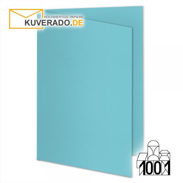 Artoz 1001 Faltkarten türkisblau DIN A6 mit Wasserzeichen