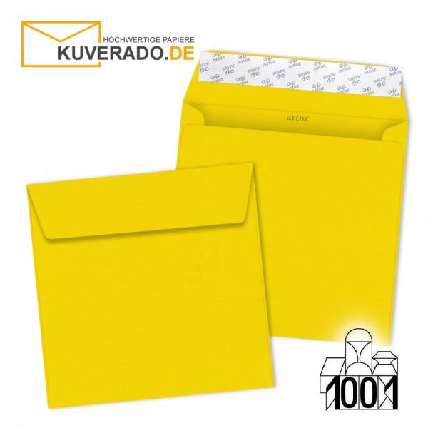 Artoz 1001 Briefumschläge sonnengelb quadratisch 160x160 mm