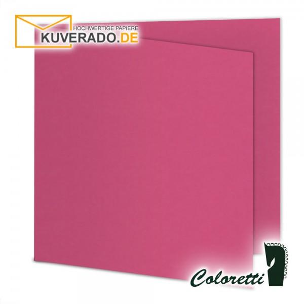 Rosa Doppelkarten in pink quadratisch 220 g/qm von Coloretti