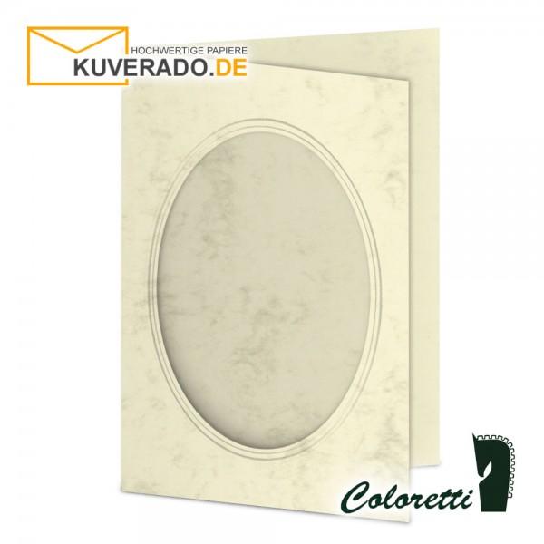 Marmorierte Passepartoutkarten in chamois 220 g/qm von Coloretti