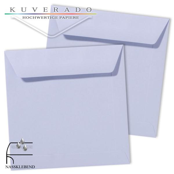 Lila Briefumschläge (Lavendel) im Format quadratisch 190x190 mm