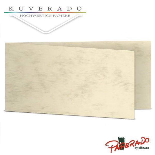 Paperado Karten in beige marmoriert DIN lang Querformat