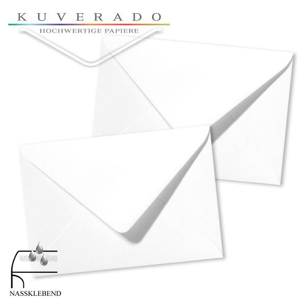 weiße Briefumschläge im Format 120 x 180 mm genarbt