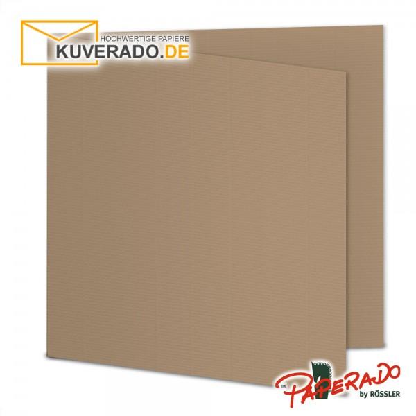 Paperado Karten in haselnussbraun quadratisch