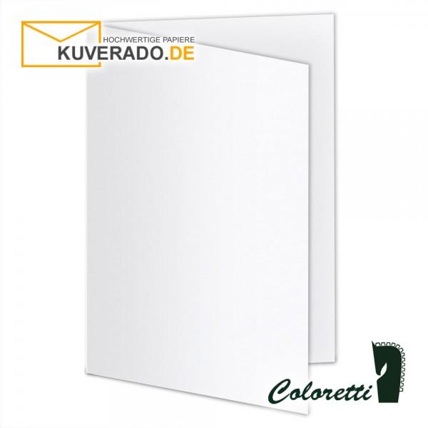Weiße Doppelkarten in 220 g/qm von Coloretti
