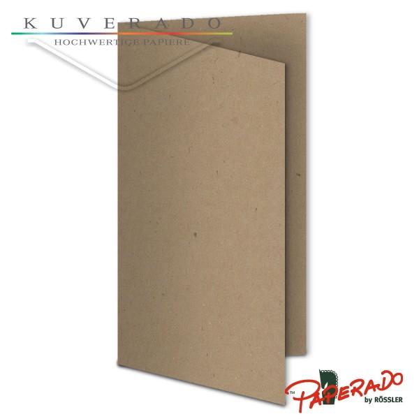 Paperado Karten aus braunem Kraftpapier DIN lang