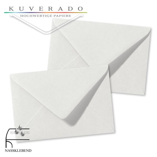 Graue Briefumschläge (Silbergrau) im Format 120 x 180 mm