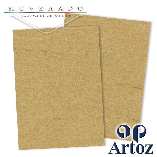 Artoz Rustik marmoriertes Briefpapier chamois DIN A4