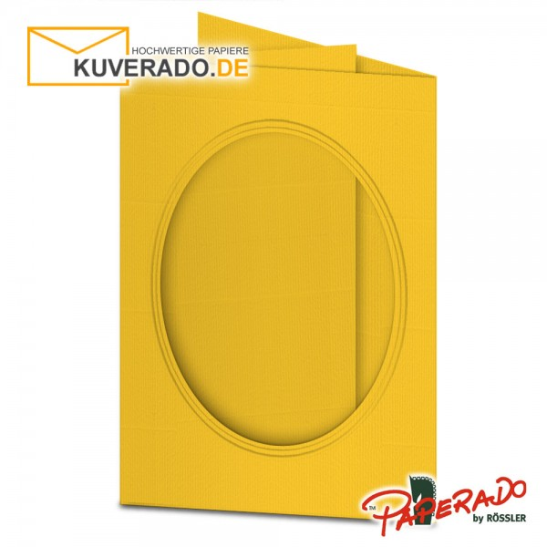 Paperado Passepartoutkarten mit ovalem Ausschnitt in ocker DIN B6