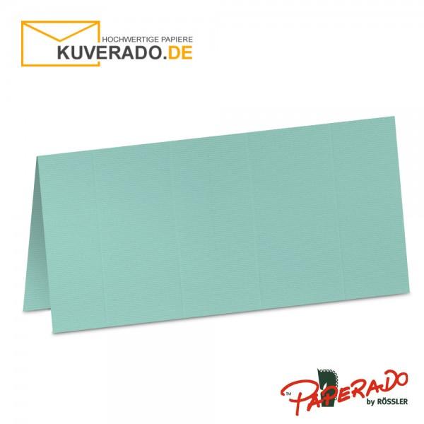 Paperado Tischkarten in karibik-blau