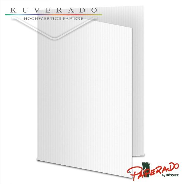 Paperado Karten in classic-rib weiß DIN A5