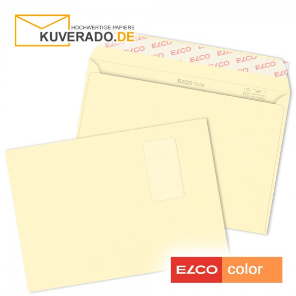 cremefarbene Briefumschläge DIN C4 mit Fenster