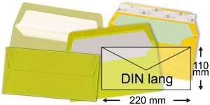 110x220 mm (DIN lang)   gelb