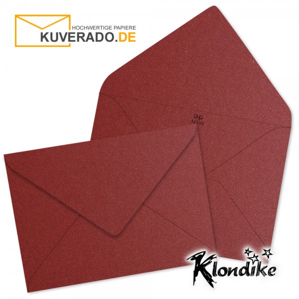 Artoz Klondike Briefumschlag in rubin-rot-metallic DIN E6