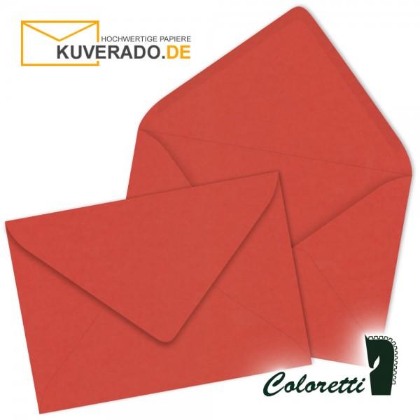 Rote DIN C7 Briefumschläge in klatschmohn von Coloretti