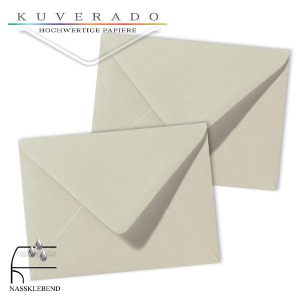Graue Briefumschläge (Delfingrau) im Format 130 x 180 mm