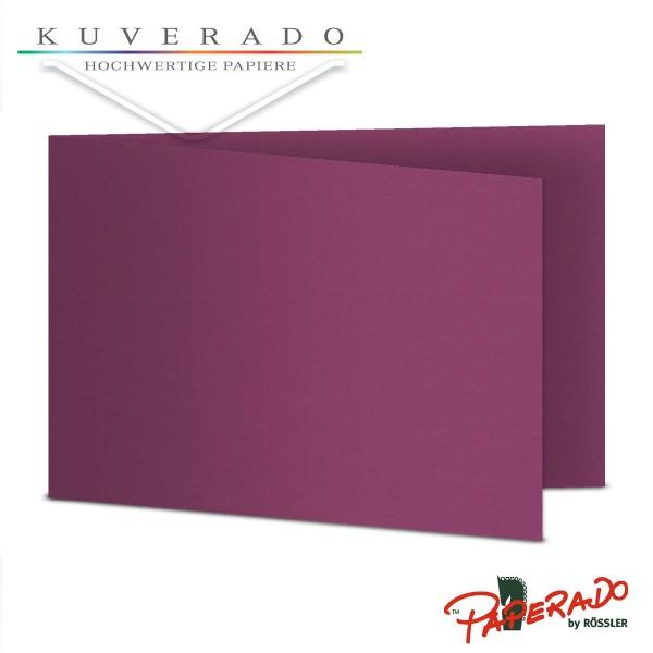 Paperado Karten in cassis lila DIN B6 Querformat