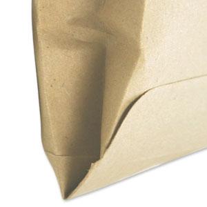 Detailansicht: Faltentaschen mit Spitzboden