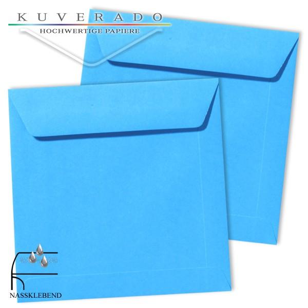 blaue Briefumschläge im Format quadratisch 220x220 mm