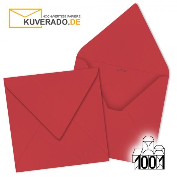 Artoz Briefumschläge rot quadratisch 135x135 mm