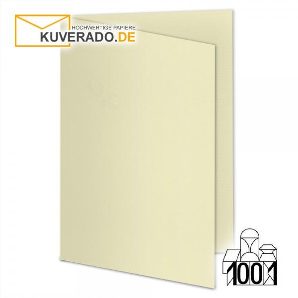 Artoz 1001 Faltkarten chamois beige DIN B6 mit Wasserzeichen