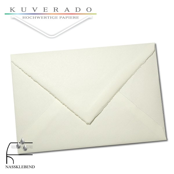 Briefumschläge aus Büttenpapier im Format Diplomat
