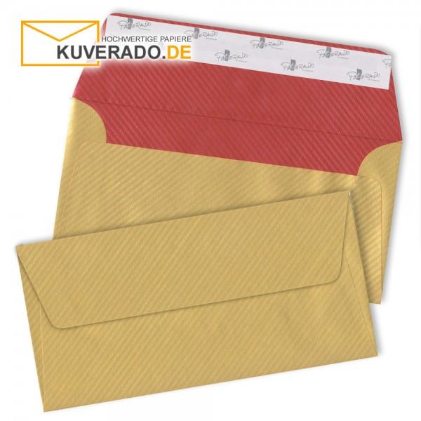 RÖSSLER Finer Paper | Briefumschläge in gold/rot DIN lang