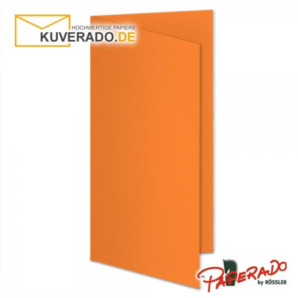 Paperado Karten in orange DIN lang