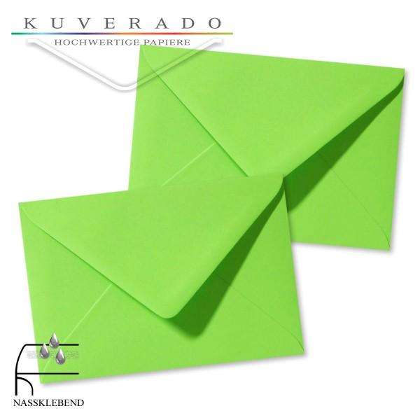 grüne Briefumschläge im Format 120 x 180 mm
