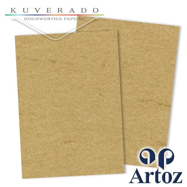 Artoz Rustik marmorierter Briefkarton chamois DIN A4