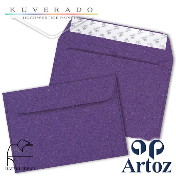 Artoz Klondike Briefumschlag in amethyst-metallic DIN C6