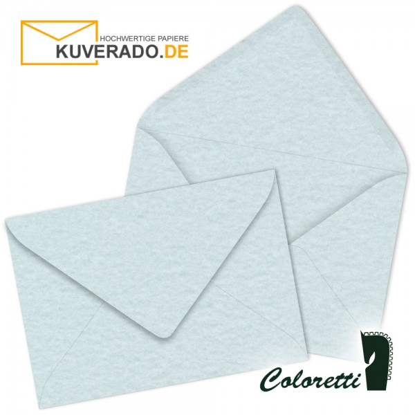 Marmorierte DIN C6 Briefumschläge in aqua blau von Coloretti
