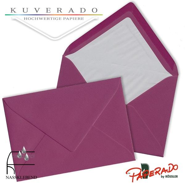 Paperado Briefumschläge in cassis lila 157x225 mm