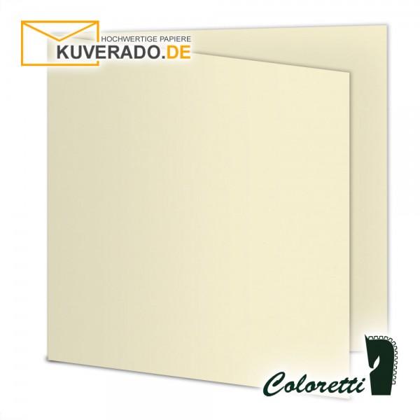 Beige Doppelkarten in creme quadratisch 220 g/qm von Coloretti
