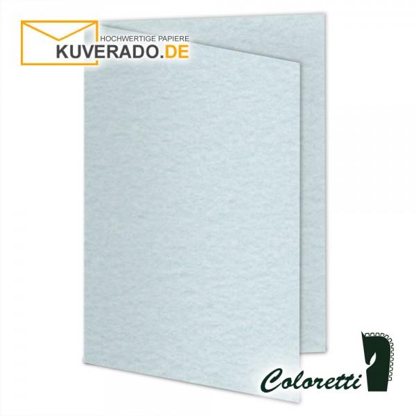 Aquablau marmorierte Doppelkarten in 220 g/qm von Coloretti