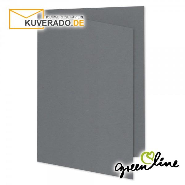 ARTOZ Greenline   Recycling Faltkarten in granit-grau DIN A5