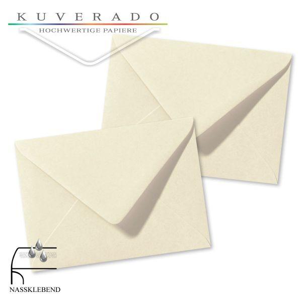 beige Briefumschläge in elfenbein im Format 110 x 156 mm genarbt