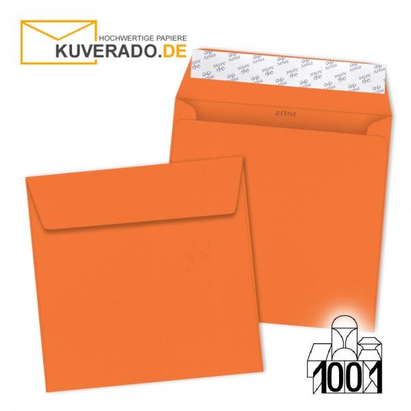 Artoz Briefumschläge mandarin-orange quadratisch 160x160 mm